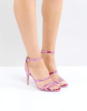 Faith Disco Metallic Strap Sandals