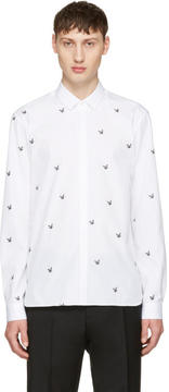Neil Barrett White Irregular Stars Shirt