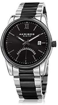 Akribos XXIV Black dial Two Tone Men's Watch