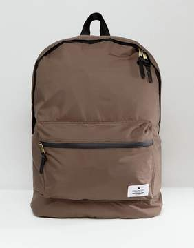 Asos Backpack In Taupe Matte Satin Look