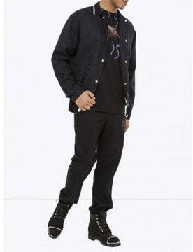 Alexander Wang CHECKERBOARD WOOL JACQUARD COACH'S JACKET