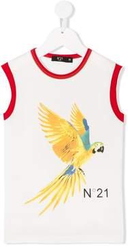 No.21 Kids bird print tank top