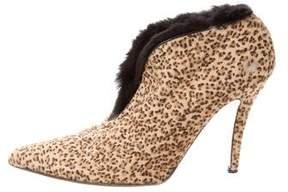 Walter Steiger Ponyhair Leopard Booties