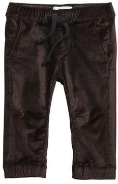 DL1961 Infant Girl's Velvet Jogger Pants