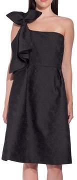 Dice Kayek One Shoulder Bow Dress Petrol