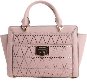 Michael Kors Ballet Geometric Perforated Leather Satchel - BALLET - STYLE