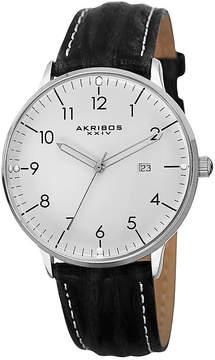 Akribos XXIV Mens Black Strap Watch-A-715wt