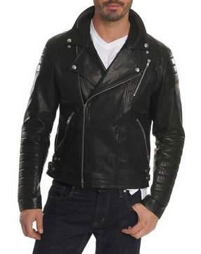 Robert Graham Colter Studded Leather Moto Jacket