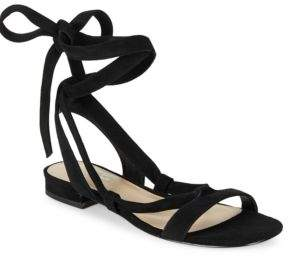 424 Fifth Yasmine Suede Lace-Up Sandals