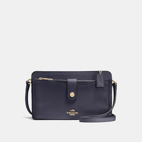 COACH Coach Pop-up Messenger - LIGHT GOLD/NAVY - STYLE