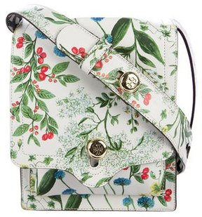 Tory Burch Botanical Printed Messenger Bag - WHITE - STYLE