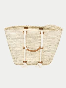 Frame Straw Tote Bag