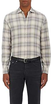 Boglioli Men's Overplaid Stretch-Cotton Shirt