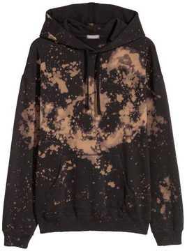 H&M Bleached Hooded Sweatshirt