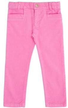 Simple Hot Pink Skinny Cord Pant
