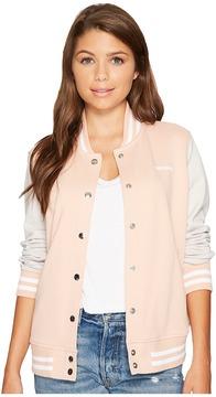 Converse Color Blocked Baseball Jacket Women's Coat