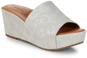 Gentle Souls Women's Forella Floral Leather Wedges