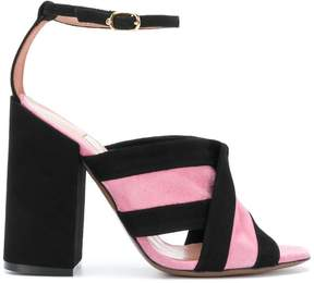 L'Autre Chose crossover strap sandals