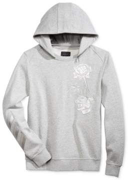 GUESS Mens Roy Embroidered Hoodie Sweatshirt Grey XL