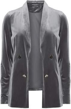 Dorothy Perkins Slate Grey Velvet Jacket
