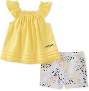 Tommy Hilfiger 2-Pc. Tunic & Printed Shorts Set, Baby Girls