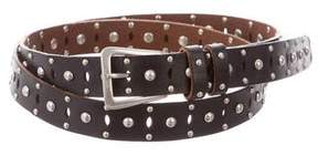 Saint Laurent 2015 Studded Leather Belt