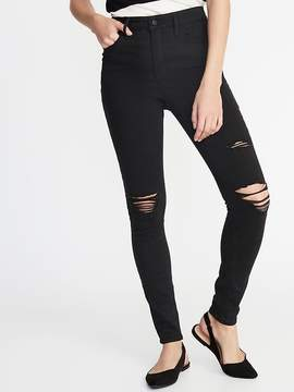Old Navy Black Distressed Jeans