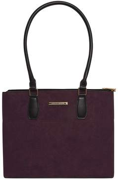 Berry Double Zip Tote Bag