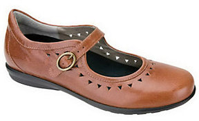Aetrex Chloe Mary Janes with Cutout Design & Buckle Closure