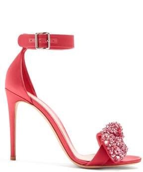 Alexander McQueen Embellished-bow satin sandals