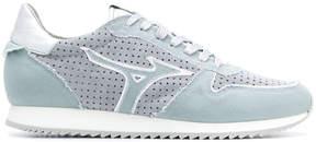 Mizuno panelled frayed edge sneakers
