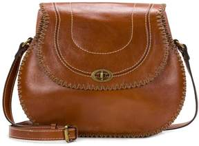 Patricia Nash Arezzo Leather Saddle Bag
