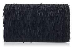 Adrianna Papell Beaded Fringe Satin Convertible Clutch