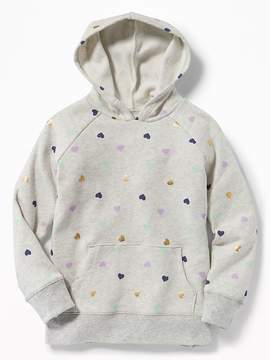 Old Navy Graphic Soft-Washed Fleece Pullover Hoodie for Girls