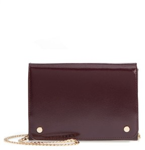 Nordstrom Women's Leather Wallet On A Chain - Burgundy
