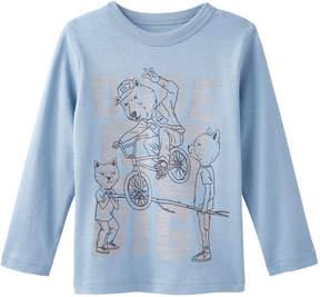 Joe Fresh Toddler Boys' Graphic Tee, Blue Grey (Size 3)