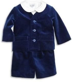 Florence Eiseman Baby's Three-Piece Velvet Jacket, Shirt & Shorts Set