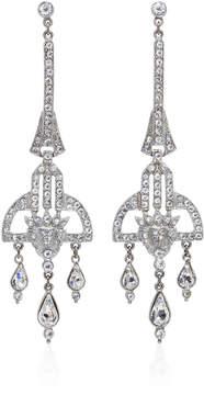 Ben-Amun Ben Amun Antique Silver Crystal Deco Earring
