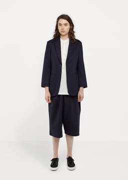 Blue Blue Japan Glossy Sweat Long Jacket Navy Size: Small