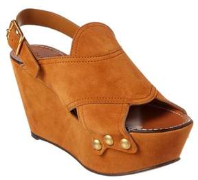 Chloé Mischa Suede Platform Wedge Sandal.