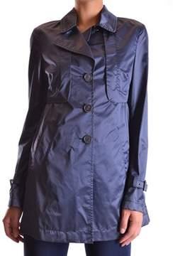 Geospirit Women's Blue Cotton Trench Coat.