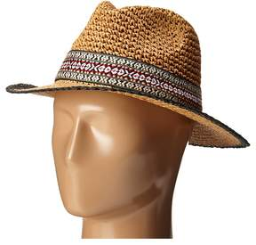Echo Crocheted Straw Hat Caps