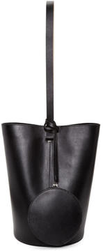 Building Block Black Basket Shoulder Bag