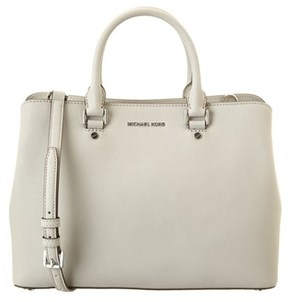 MICHAEL Michael Kors Savannah Large Leather Satchel. - GREY - STYLE
