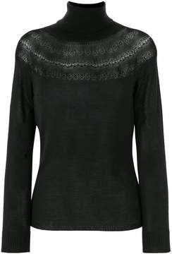Blumarine sheer knit sweater