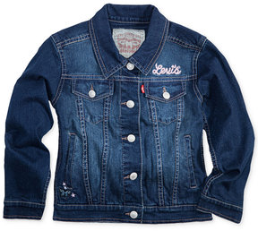 Levi's Embroidered Trucker Denim Jacket, Toddler Girls (2T-5T)