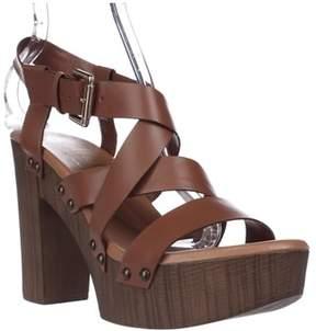 Callisto Westlye Strappy Clog Sandals, Cognac.