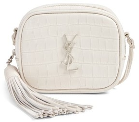 Saint Laurent Monogram Blogger Leather Crossbody Bag - White - WHITE - STYLE