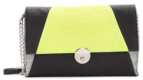 Milly Wythe Mixed Media Leather Crossbody Clutch