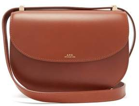 A.P.C. Geneve Leather Cross Body Bag - Womens - Tan